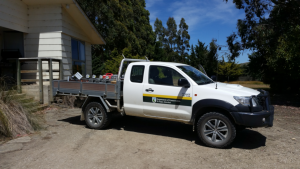 DOC Ute with Celium Gear at Macraes Flat